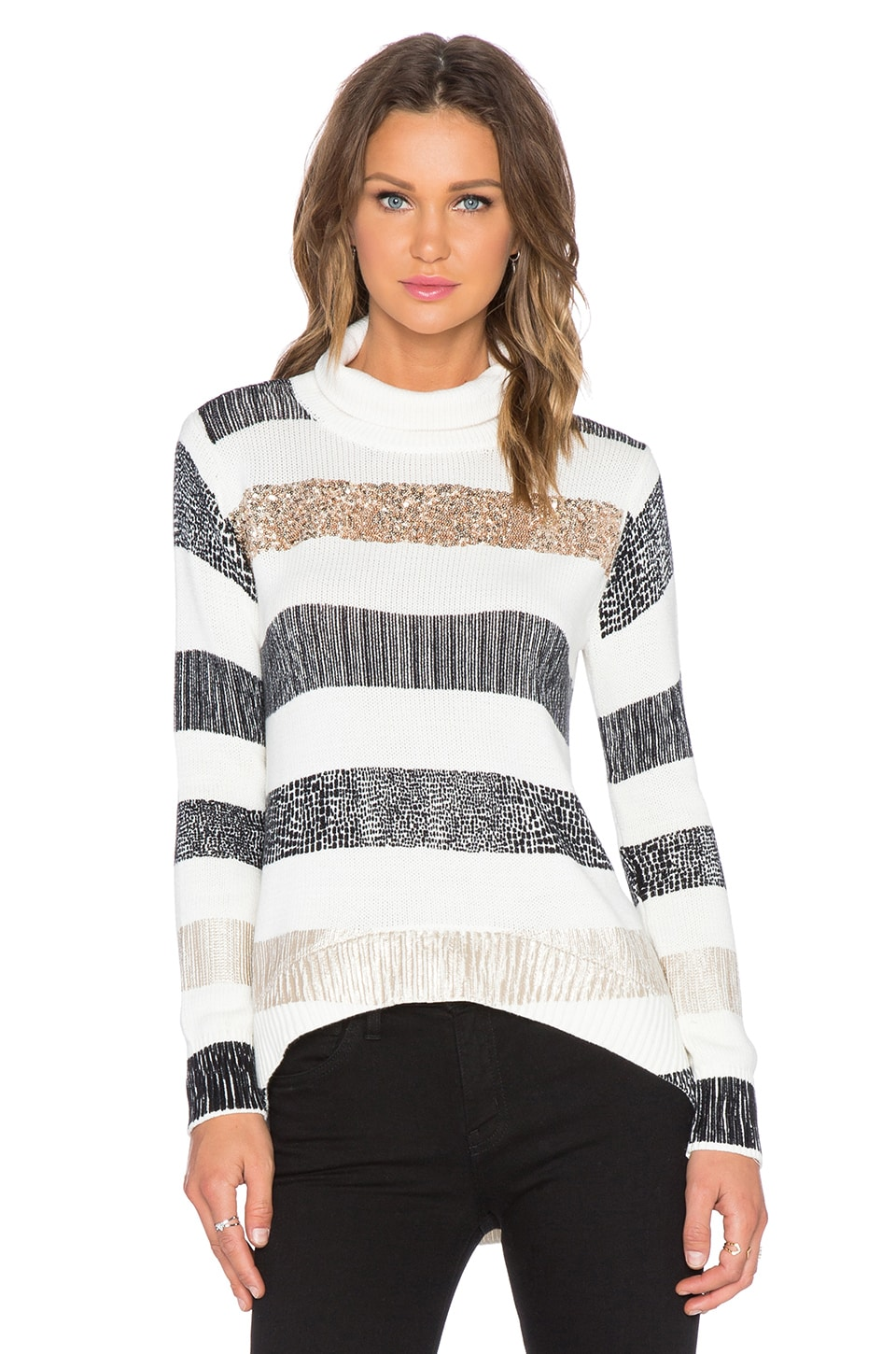 Sass & Bide August Evening Star Sweater in Ivory