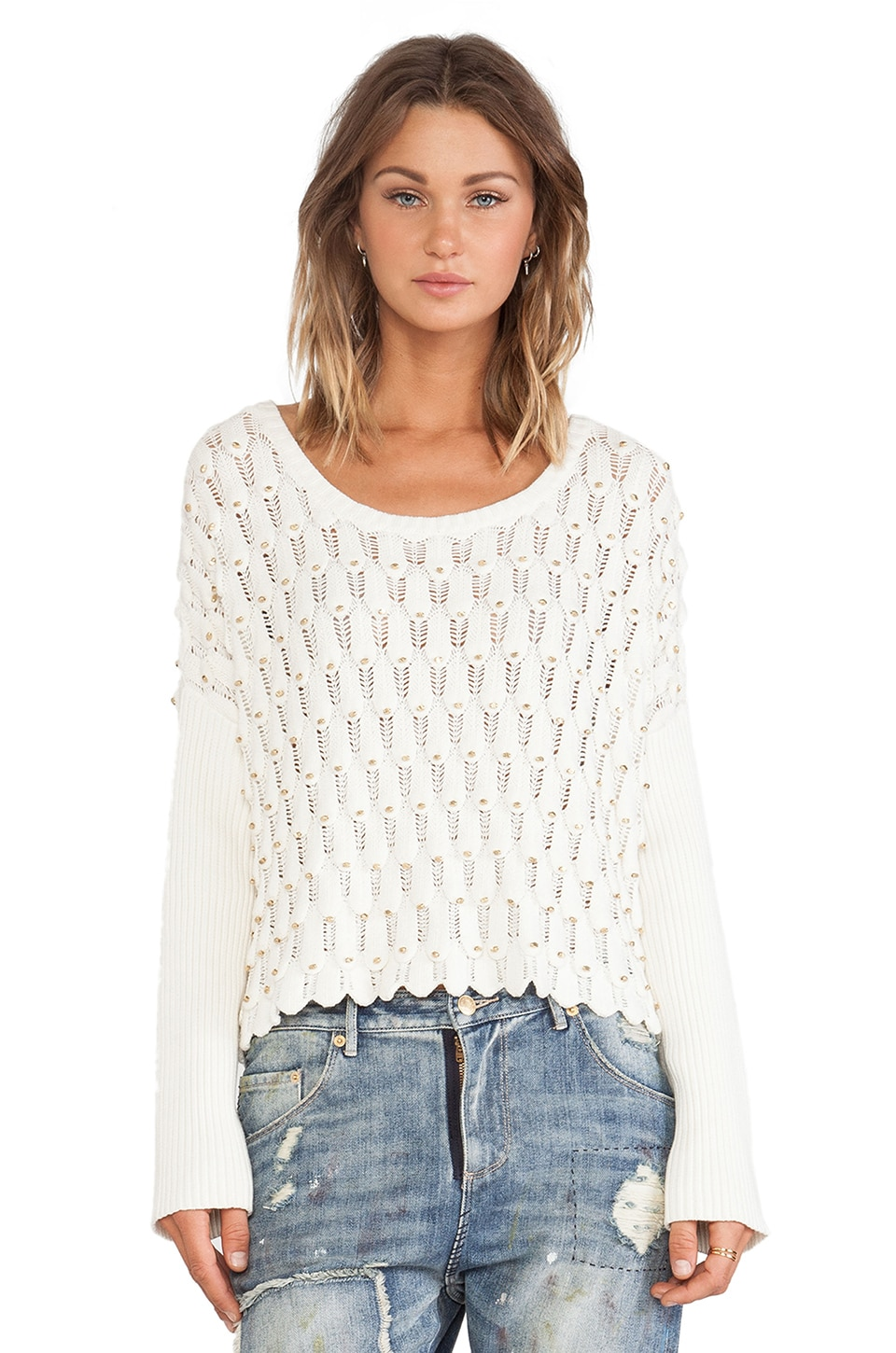 Sass & Bide The Cover-Up Sweater in Ivory
