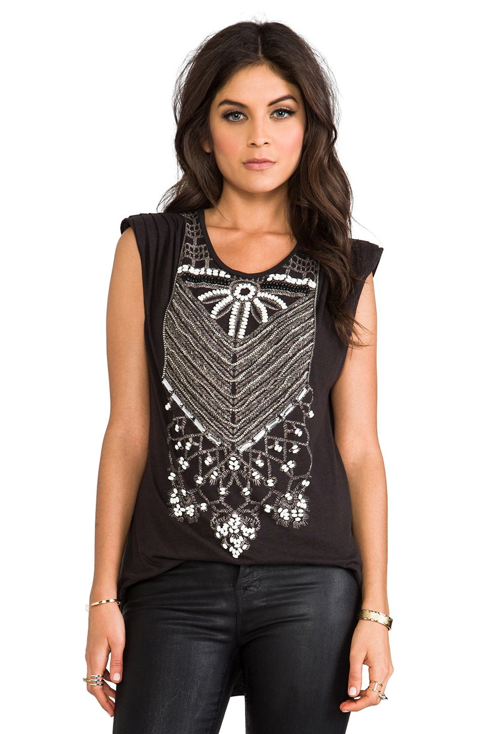 Sass & Bide Vice Versa Tank in Faded Black