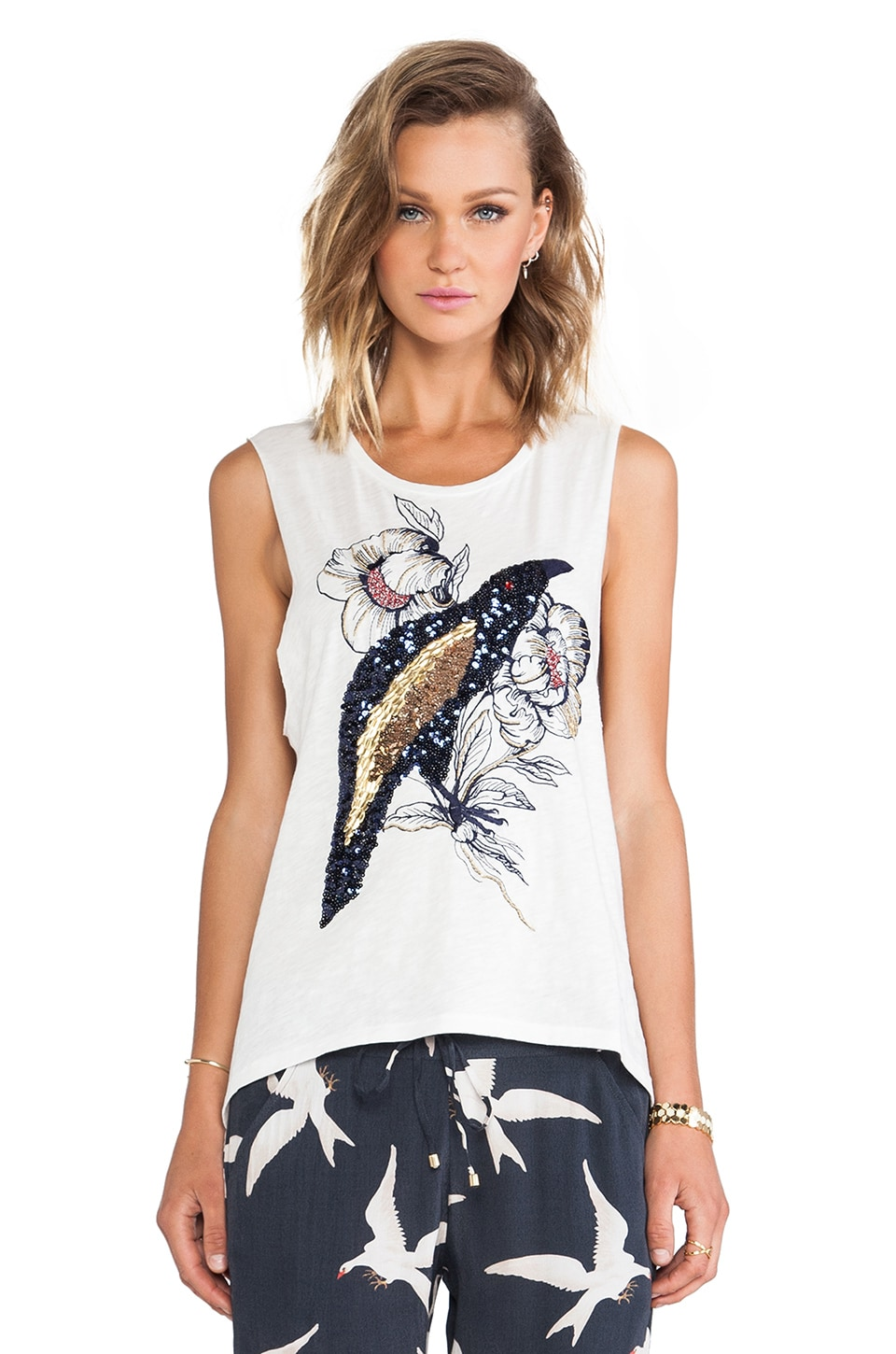 Sass & Bide A Version Of Himself Tank in Ivory