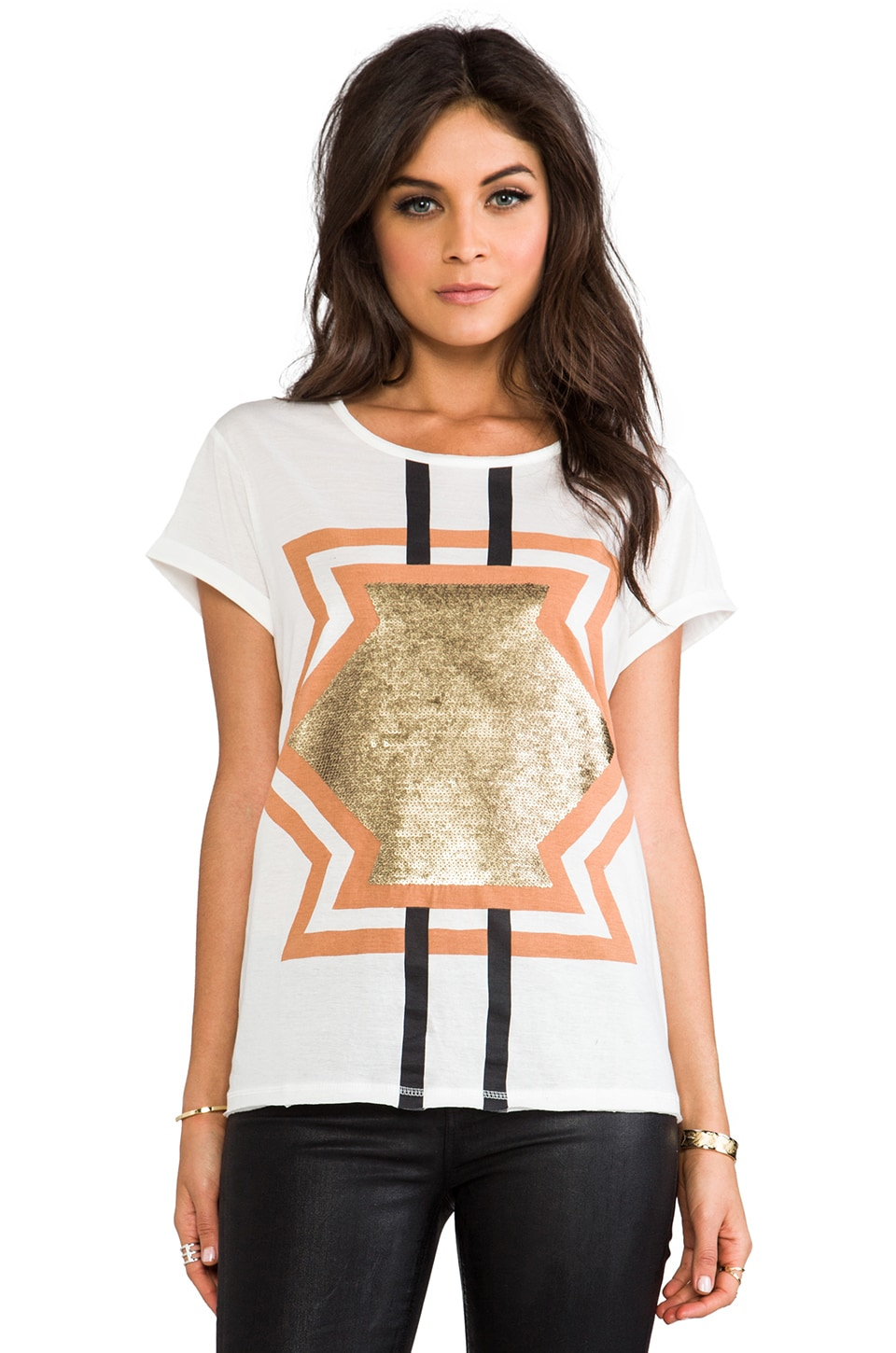Sass & Bide The Anarchy Tee in Ivory
