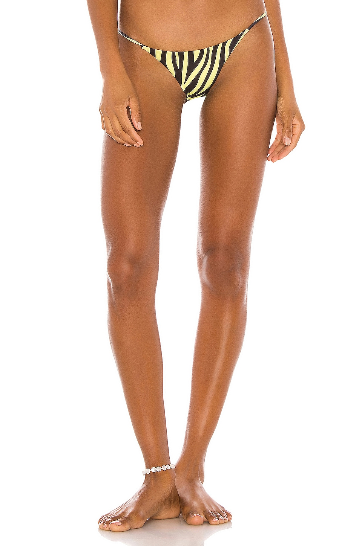 SAME String Bikini Bottom in Zebra & Yellow