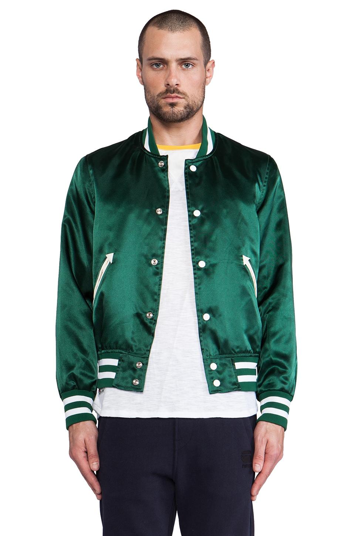 S&H Athletics Bird Varsity Jacket in Green