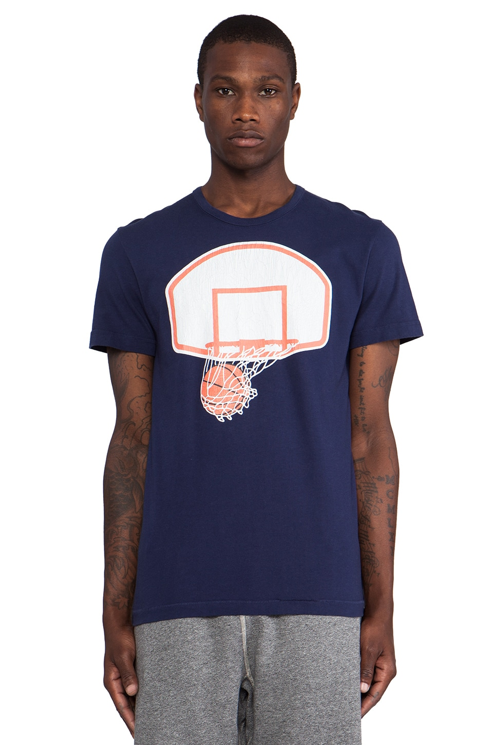 S&H Athletics Johnson T-Shirt in Hoop Navy