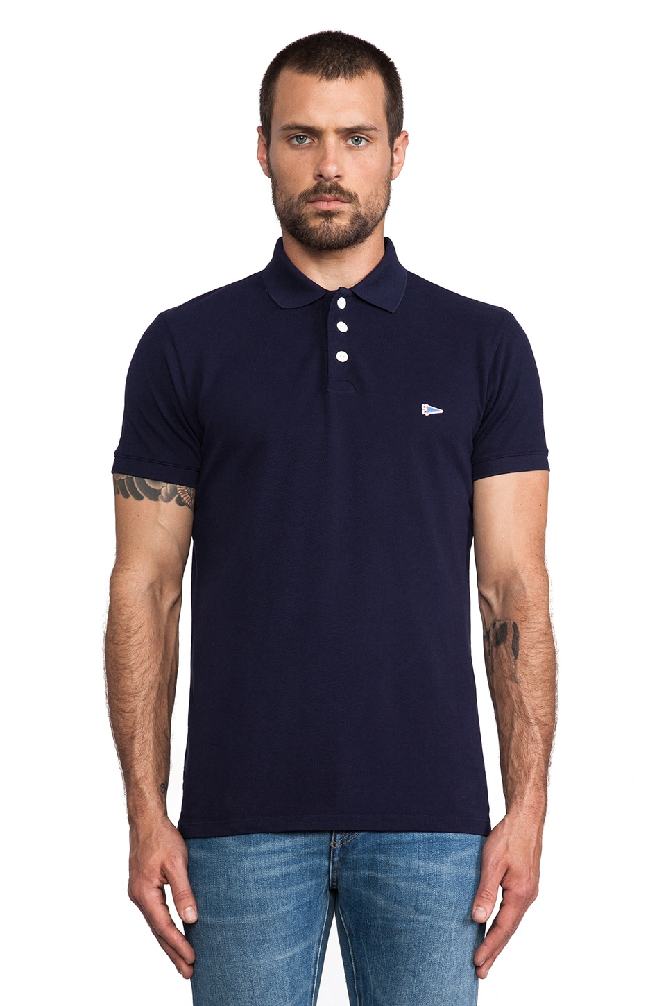 S&H Athletics Wade Polo in Navy