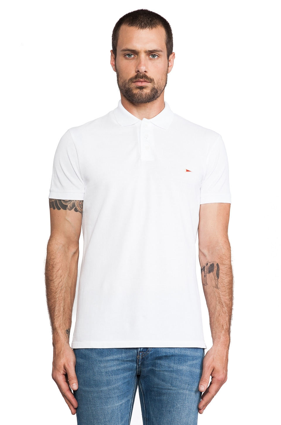 S&H Athletics Wade Polo in White