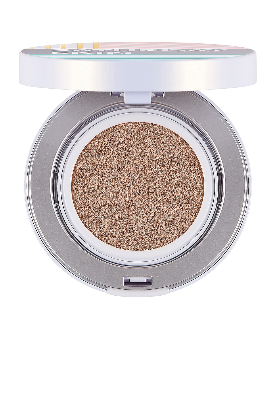 Saturday Skin All Aglow Sunscreen Perfecting Cushion Compact SPF 50 in Goldie