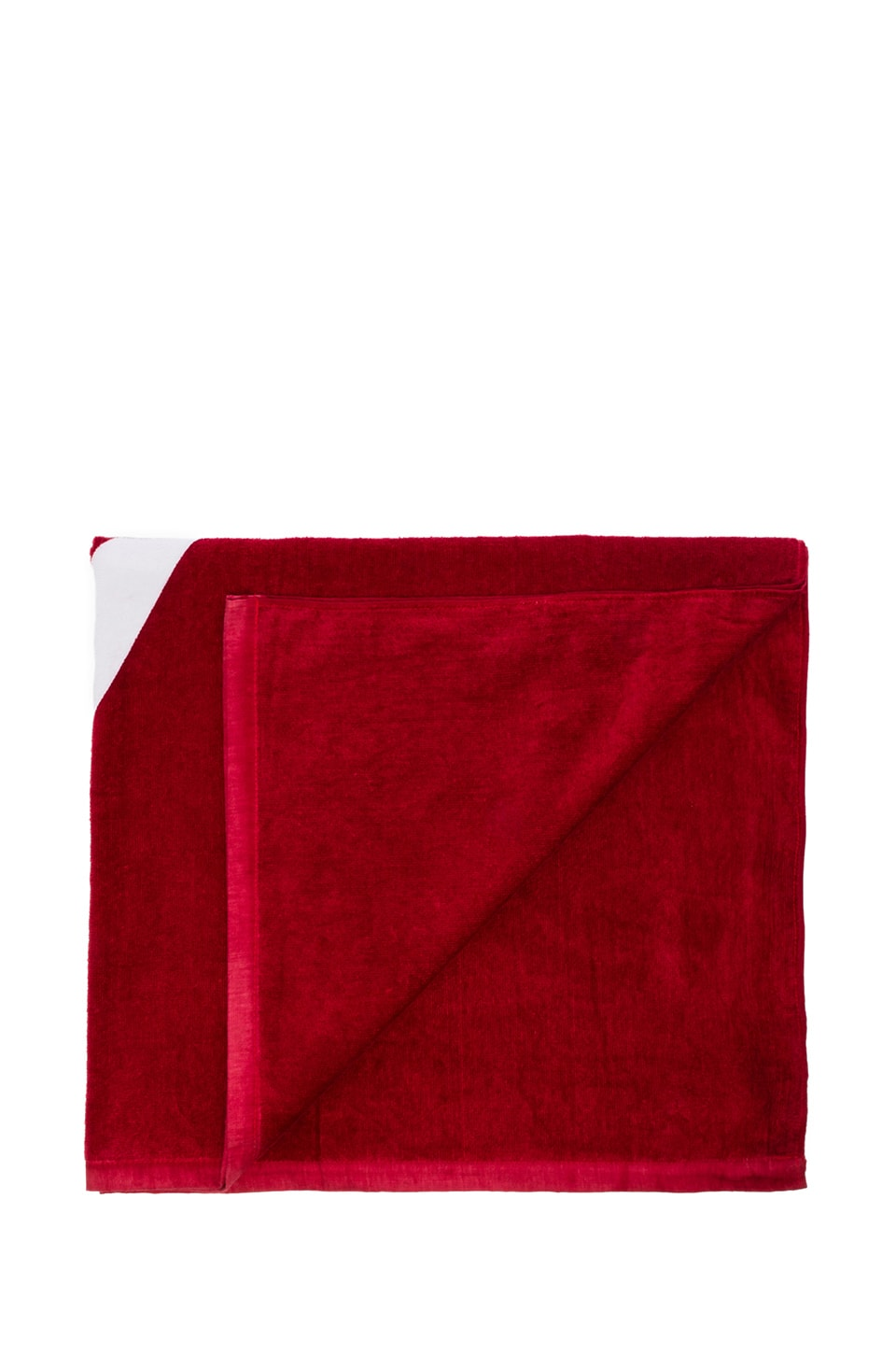 SATURDAYS NYC Diamond Towel in Red