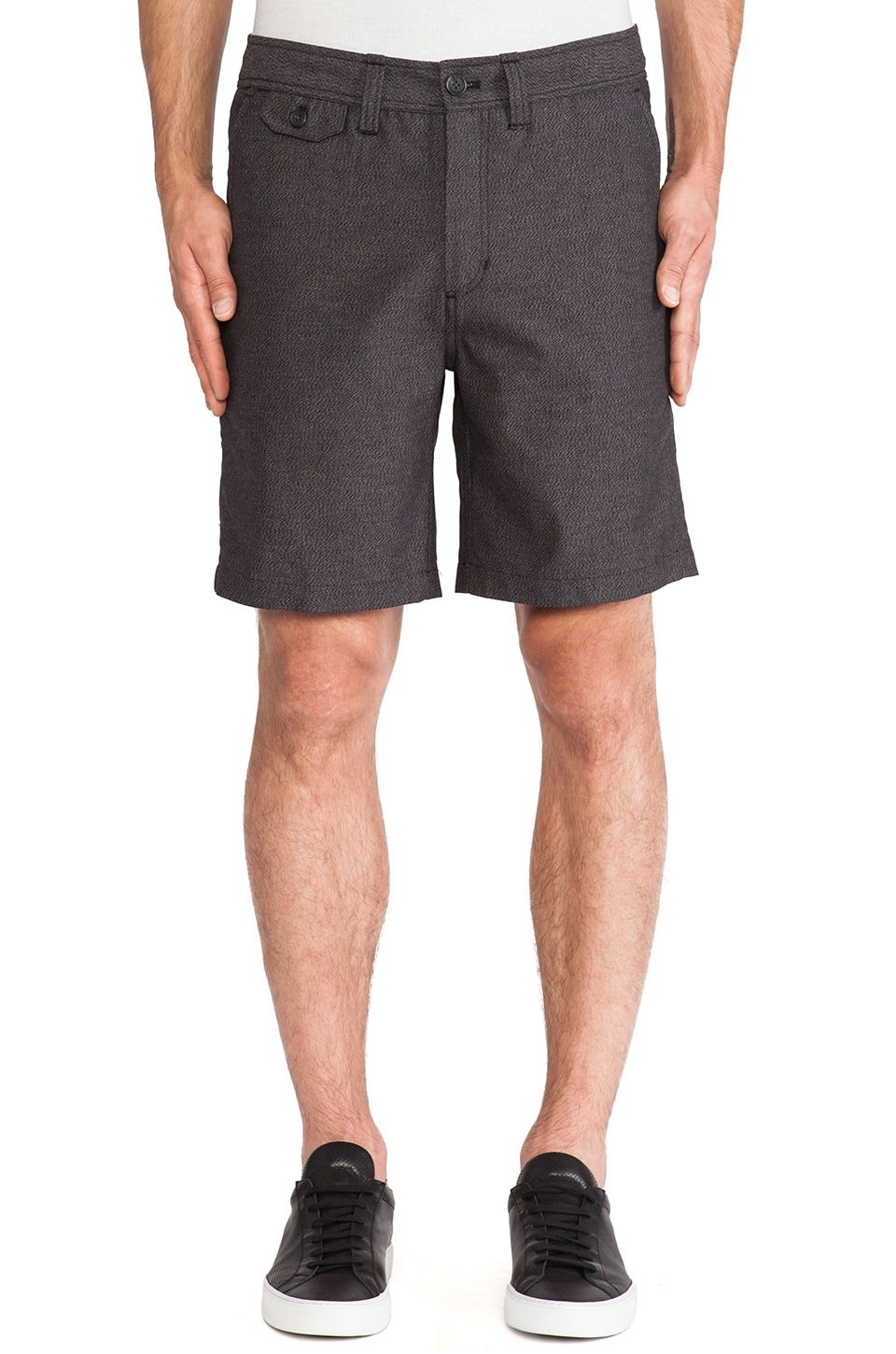 SATURDAYS NYC Bellows Twill Short in Black
