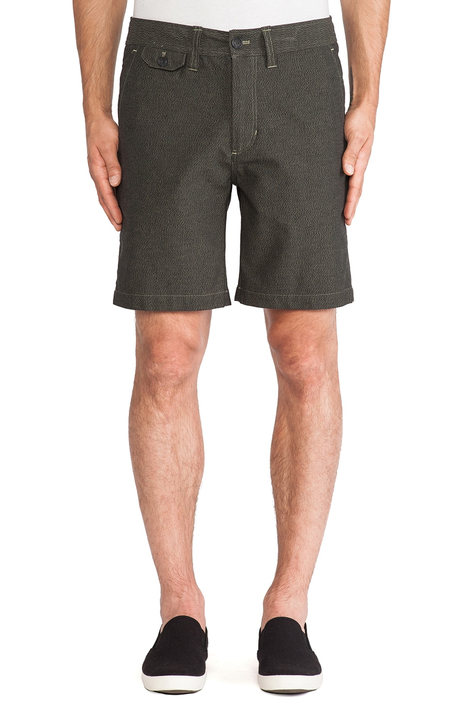 SATURDAYS NYC Bellows Twill Short in Olive Drab