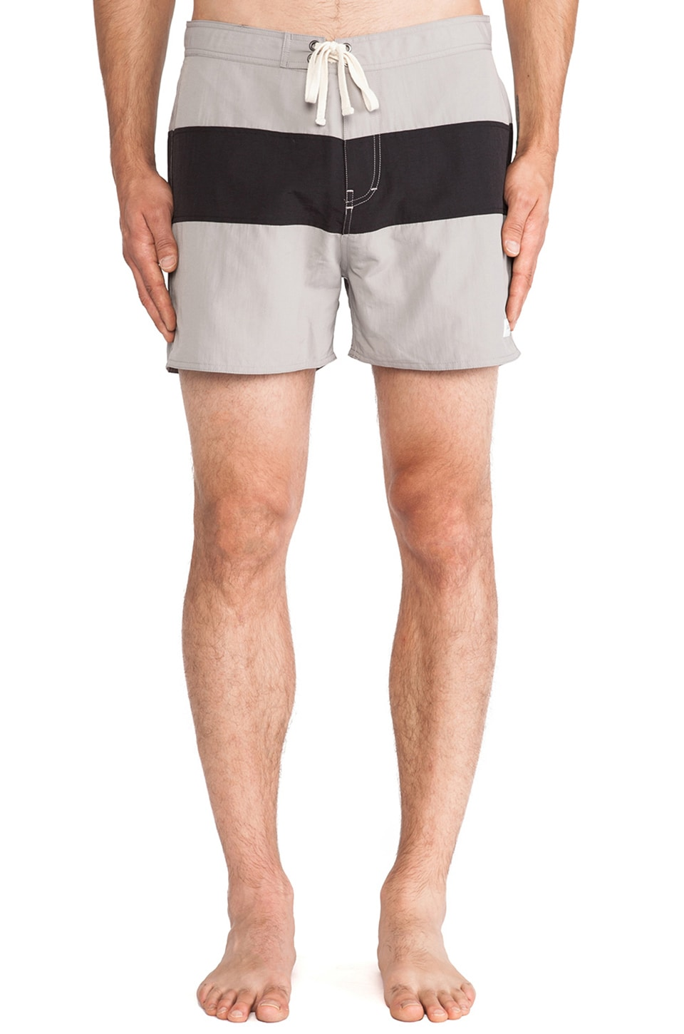 SATURDAYS NYC Grant Boardshort in Slate Grey