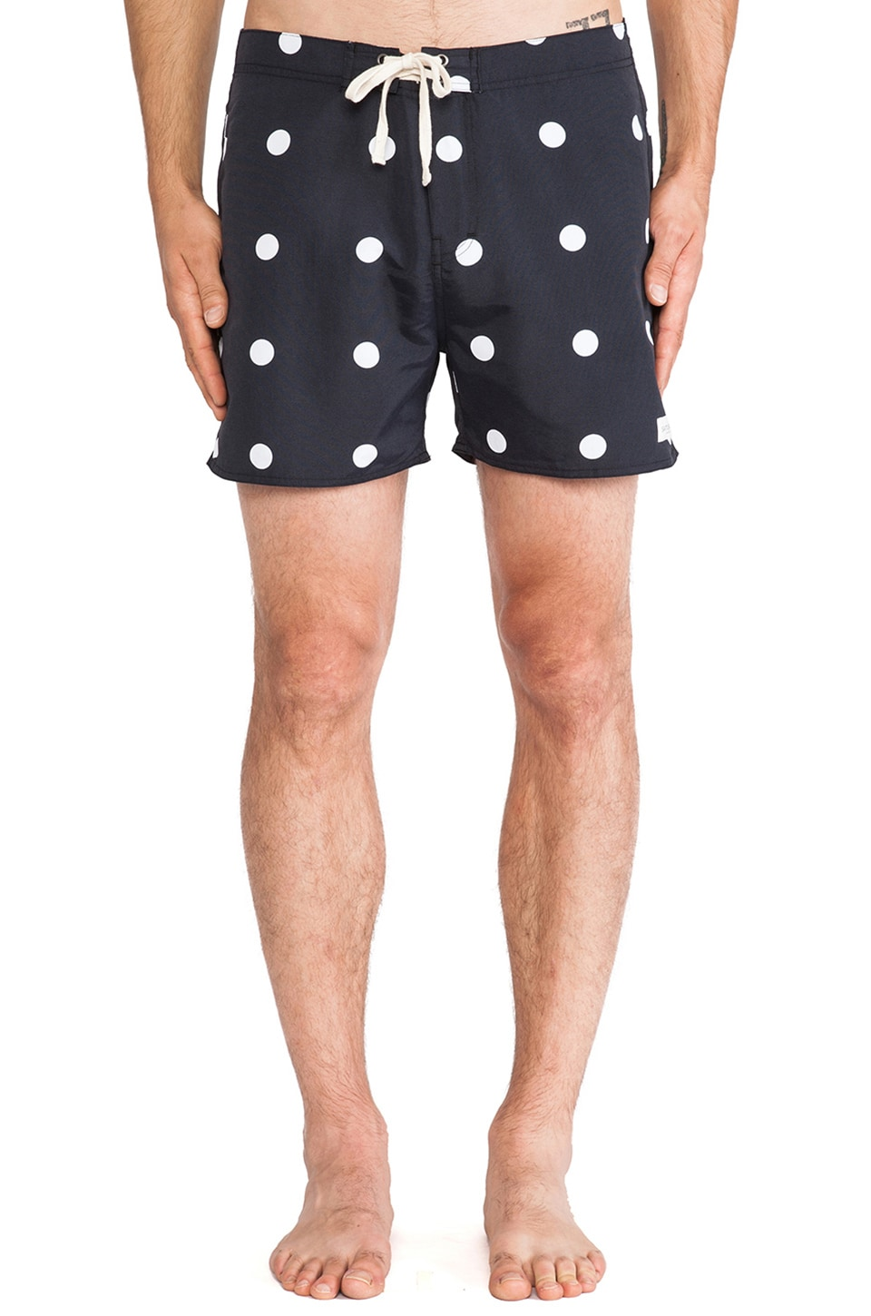 SATURDAYS NYC Polka Dot Boardshort in Black