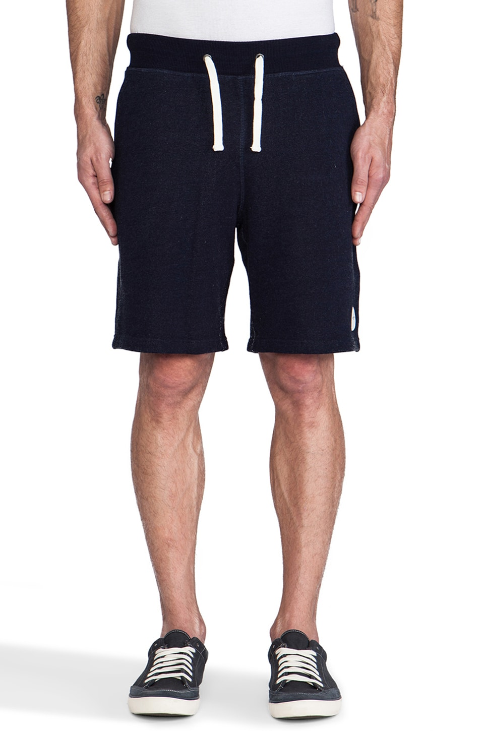 SATURDAYS NYC Austin Sweatshort in Indigo
