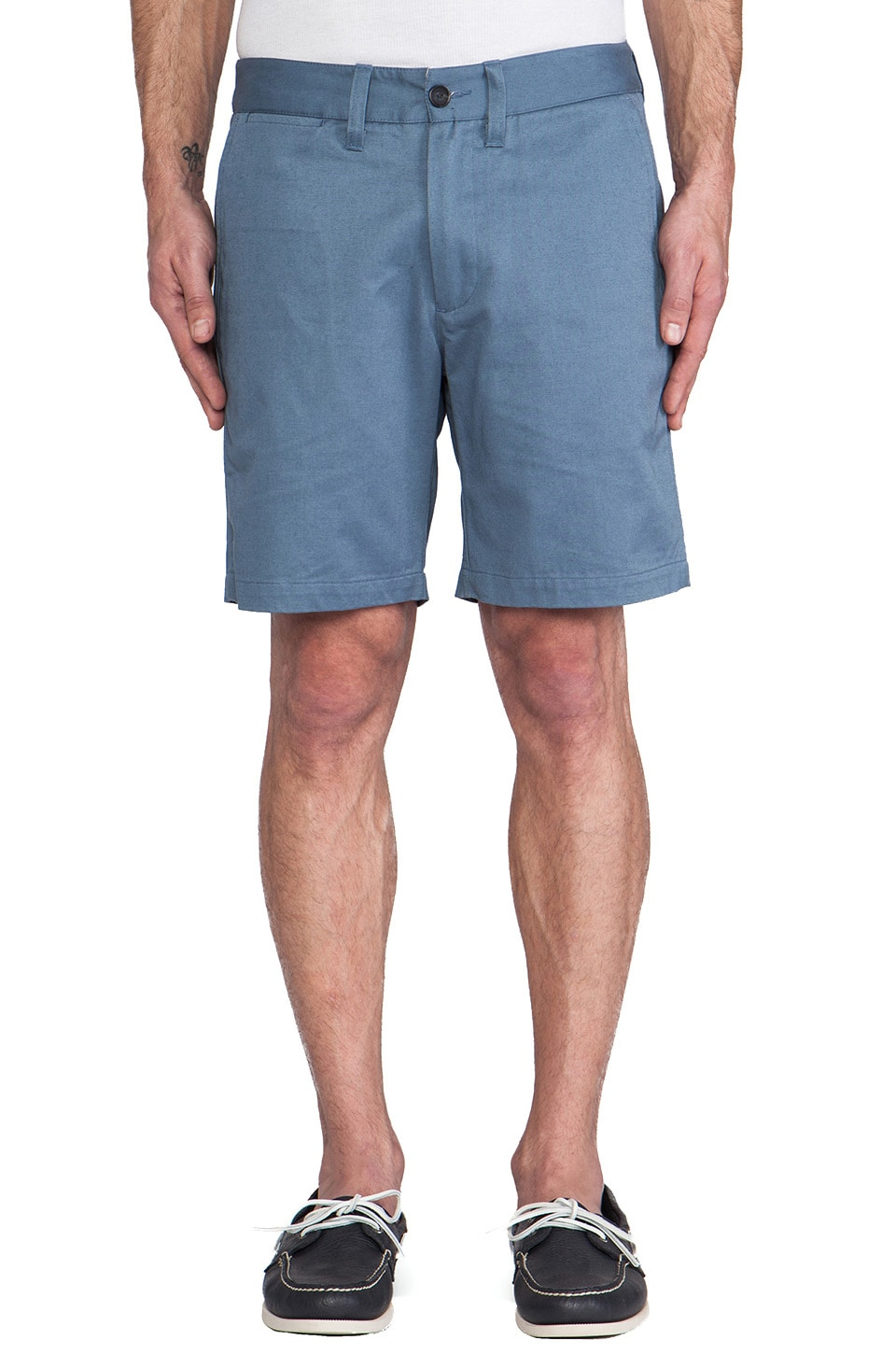SATURDAYS NYC Tommy Chino Short in Steel Blue