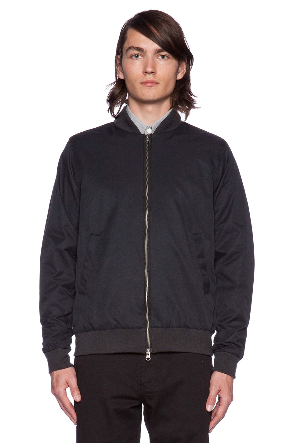 SATURDAYS NYC Goose Bomber Jacket in Black