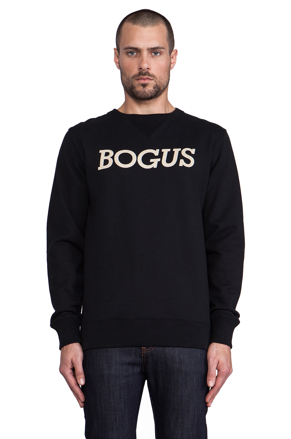 SATURDAYS NYC Bowery Bogus Sweatshirt in Black