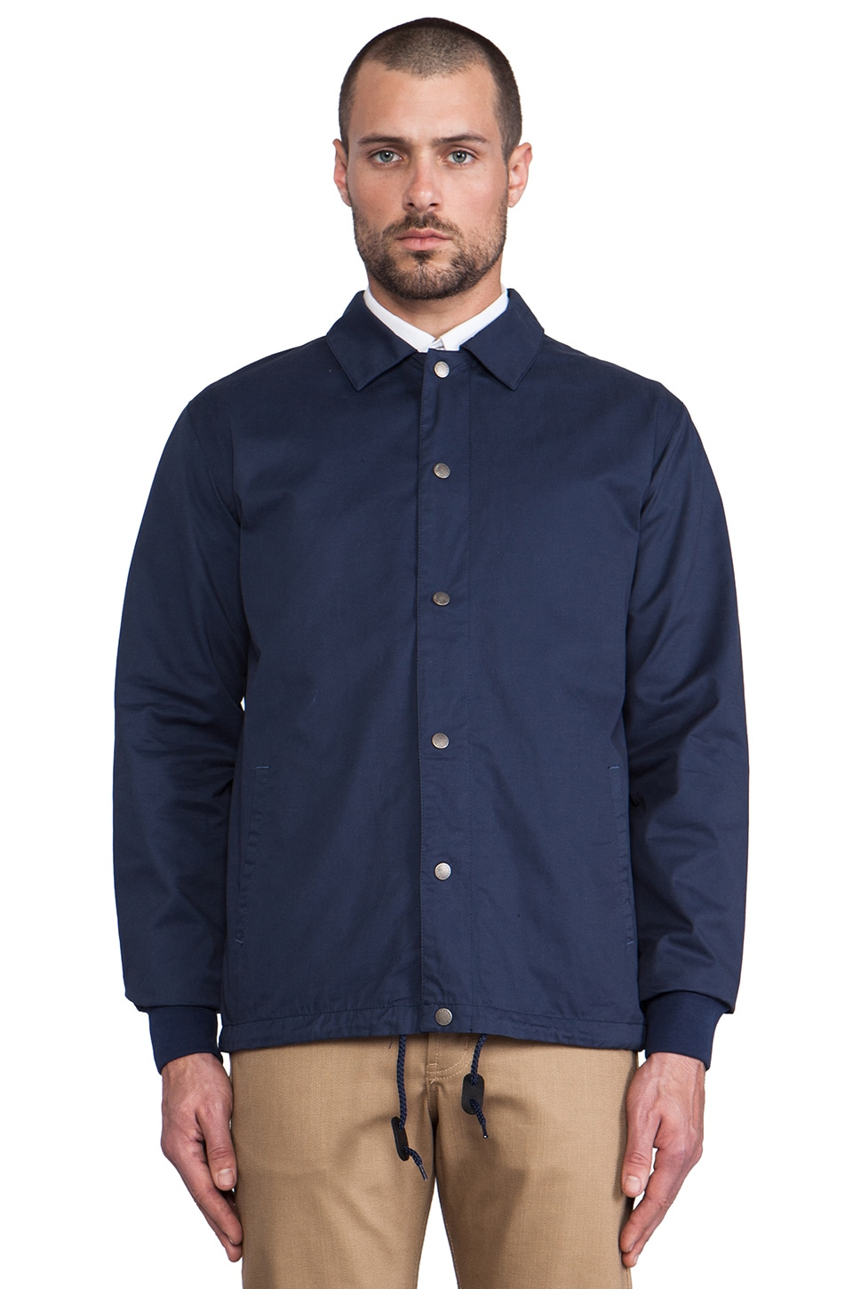 SATURDAYS NYC Cooper Coach's Jacket in Navy