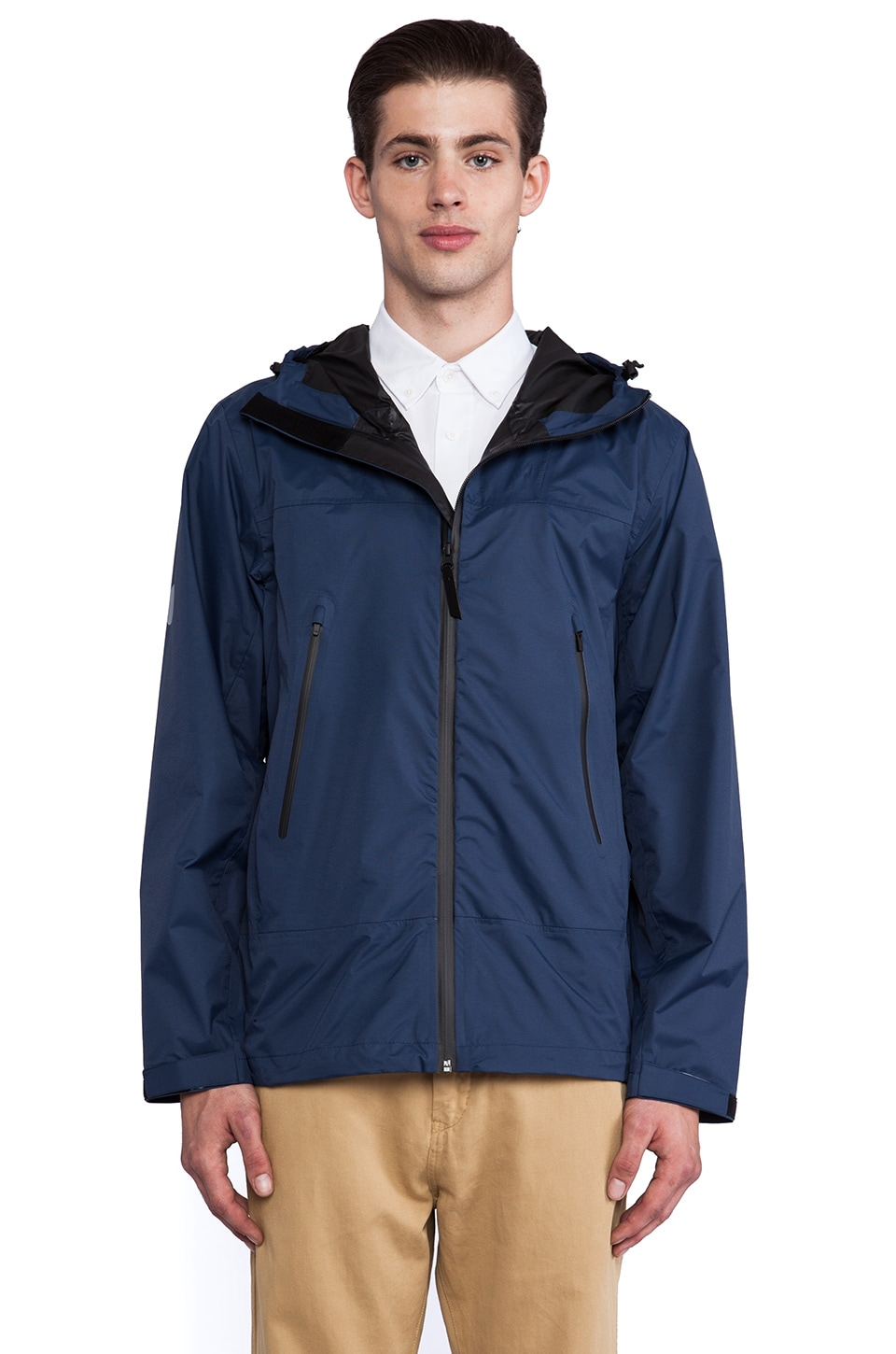 SATURDAYS NYC Ridge Water Resistant Jacket in Navy