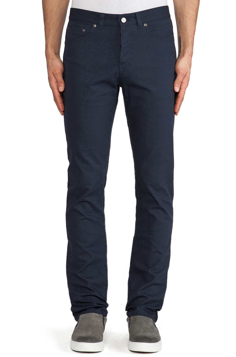SATURDAYS NYC Ronnie 5 Pocket Pant in Navy