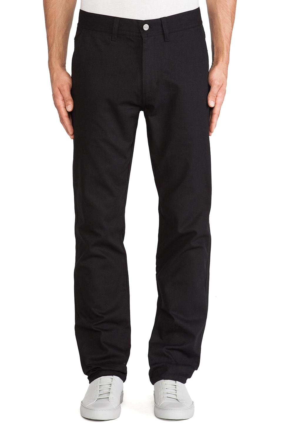 SATURDAYS NYC Jonas Slim Straight Pant in Black