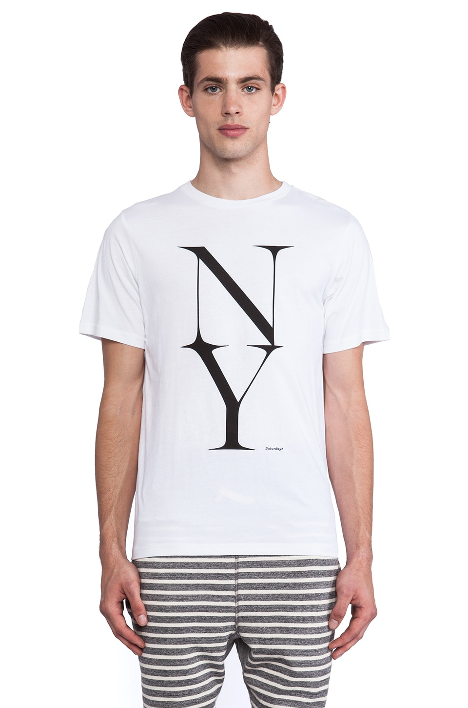 SATURDAYS NYC NY Stack Tee in White