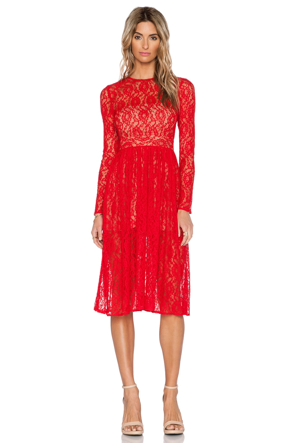 SAU Natalya Dress in Red