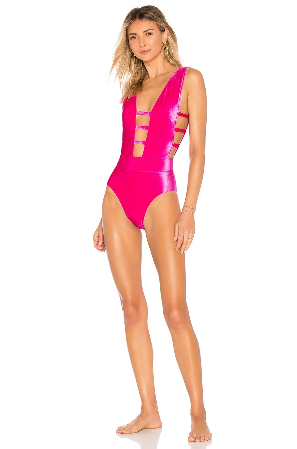 SAUVAGE X Revolve Ladder Luxe One Piece in Fuchsia