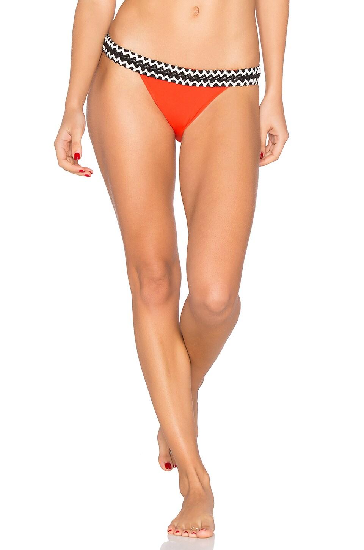 Sauvage Rio Low Rise Bikini Bottom in Red