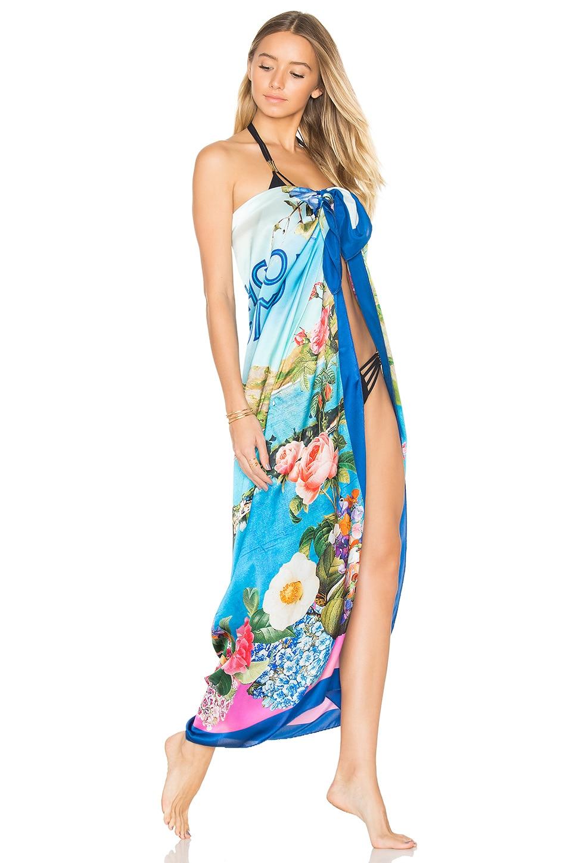 Sauvage Silk Sarong in Floral Como