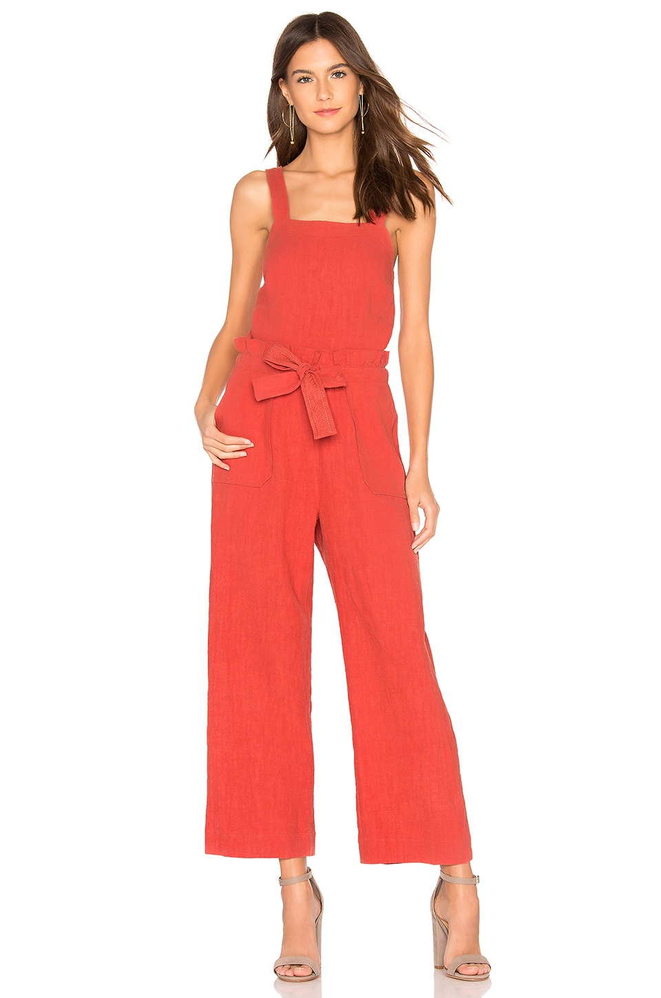 SAYLOR Roxy Jumpsuit in Rust