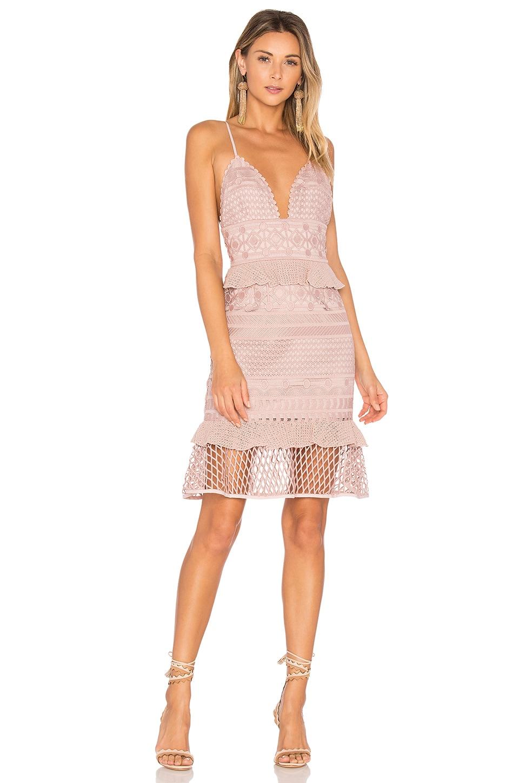 SAYLOR Drew Dress in Blush