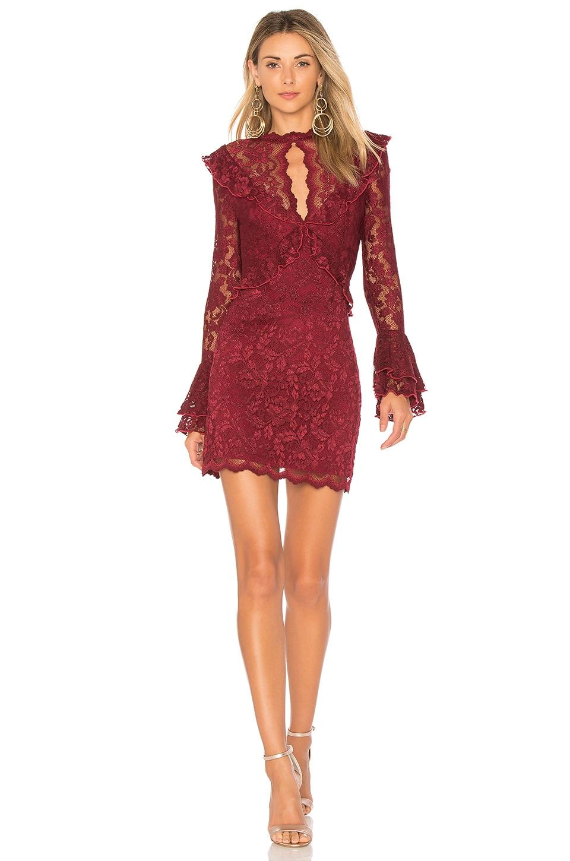 SAYLOR Devin Dress in Wine