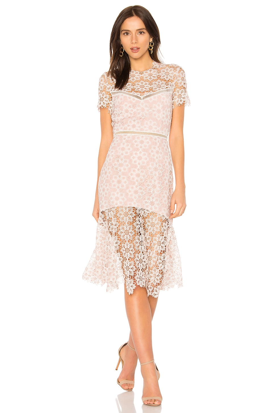 SAYLOR Lillie Dress in Ivory & Blush