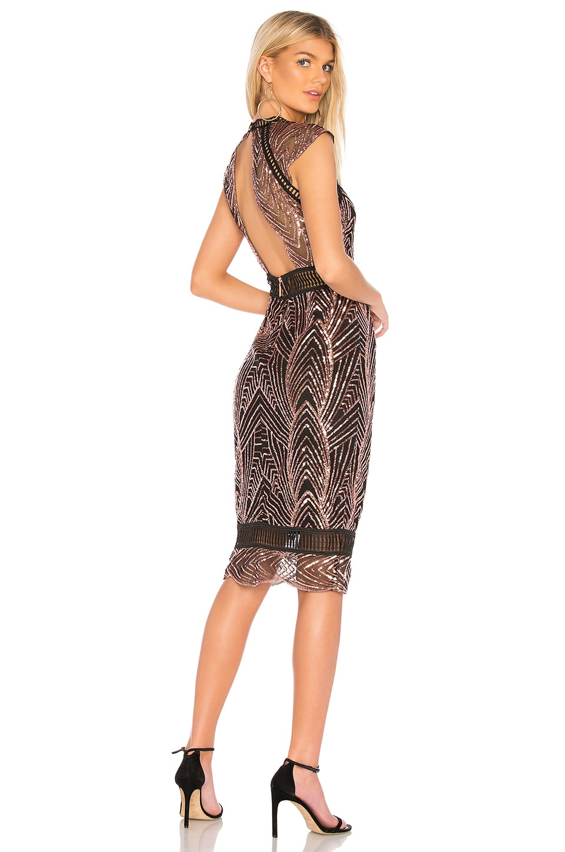 SAYLOR Heloise Dress in Black Mesh