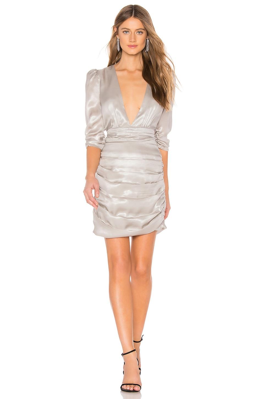 SAYLOR Madonna Mini Dress in Silver