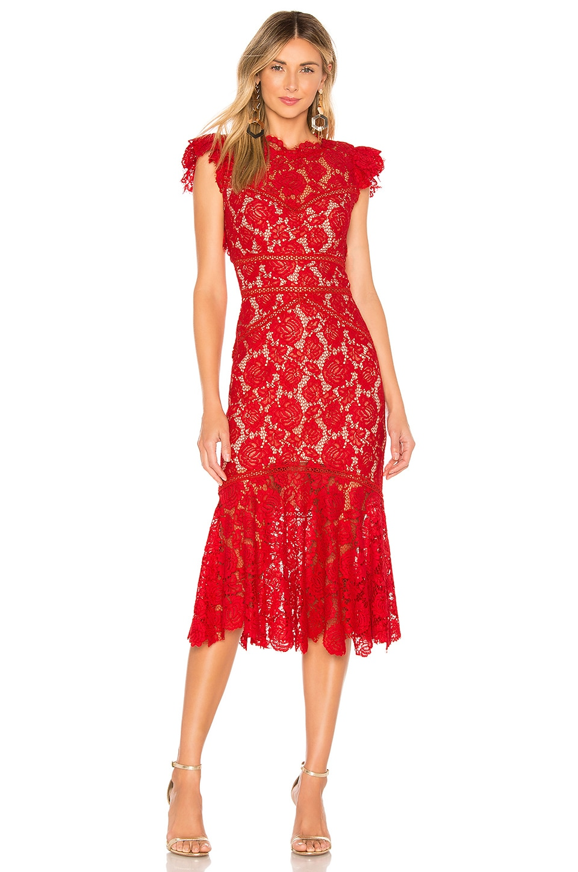 SAYLOR Maude Midi Dress in Red