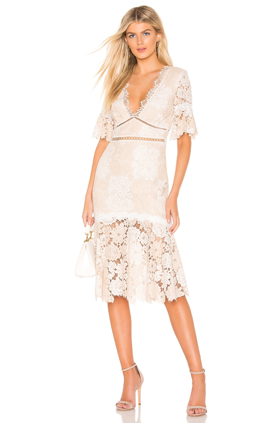 SAYLOR Maggy Dress in Nude