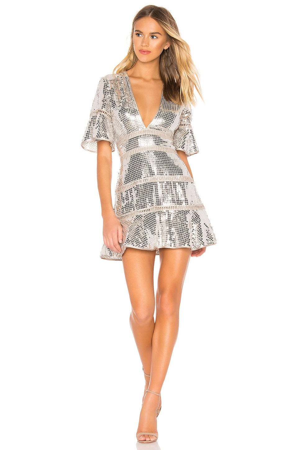 SAYLOR Sidney Dress in Silver