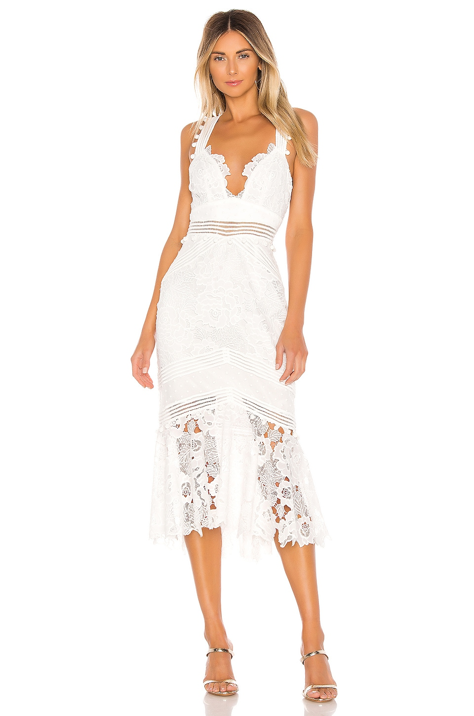 SAYLOR Ren Dress in White