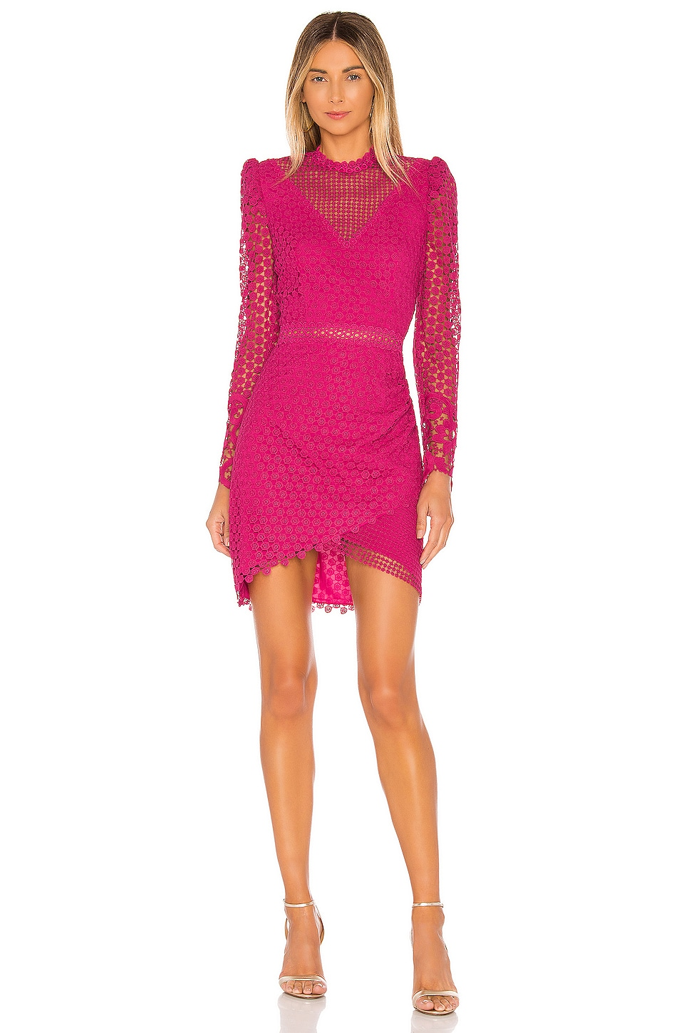 SAYLOR Kerrianne Dress in Magenta