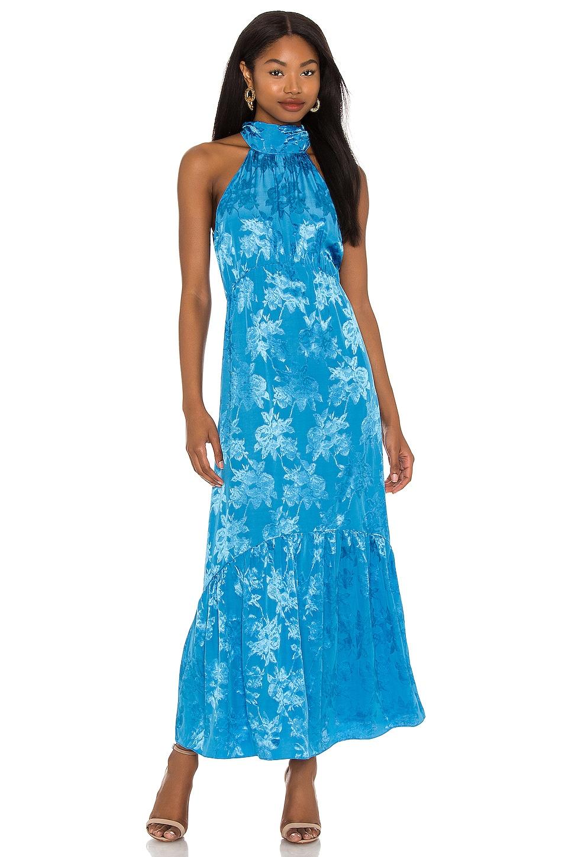 SAYLOR Corinna Maxi Dress in Cerulean