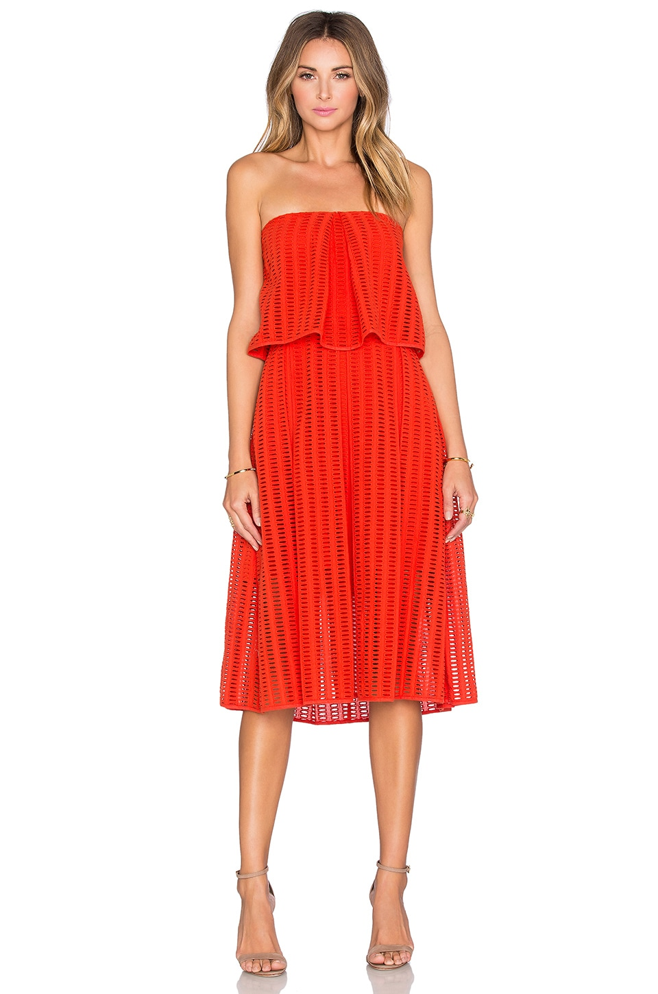 SAYLOR Graciela Dress in Fire