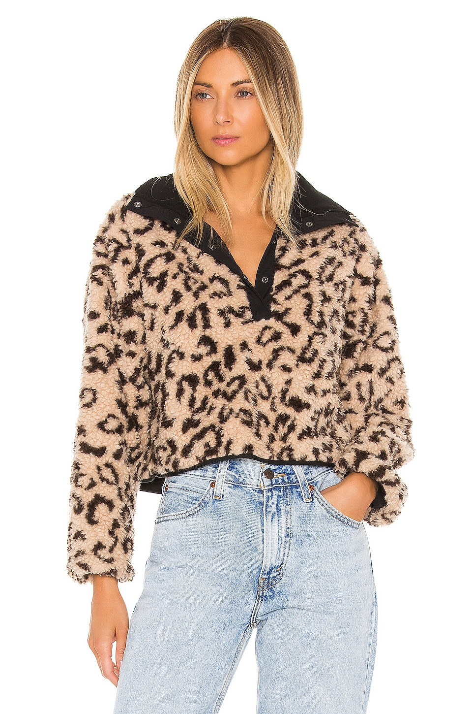 SAYLOR Rianne Pullover Jacket in Cheetah