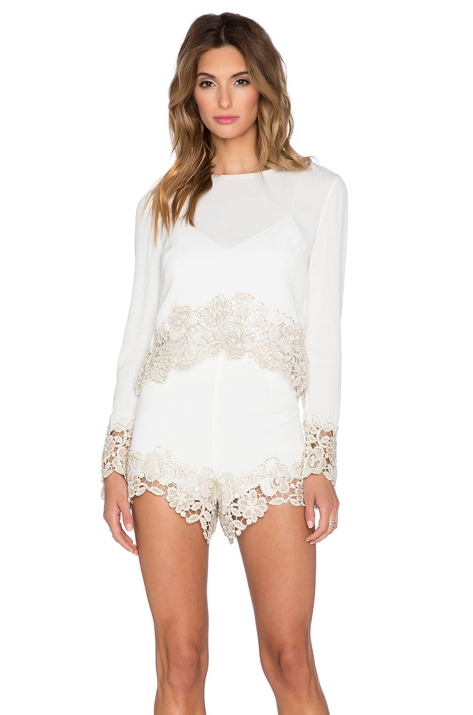 SAYLOR Betsey Romper in Gold