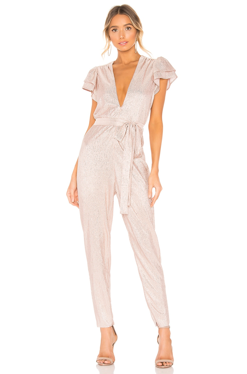 Sabina Musayev Oscar Jumpsuit in Blush