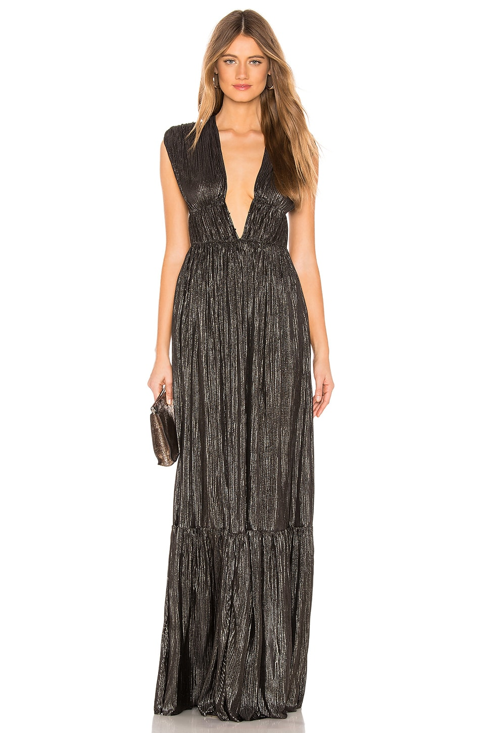 Sabina Musayev Tyler Dress in Black Metallic