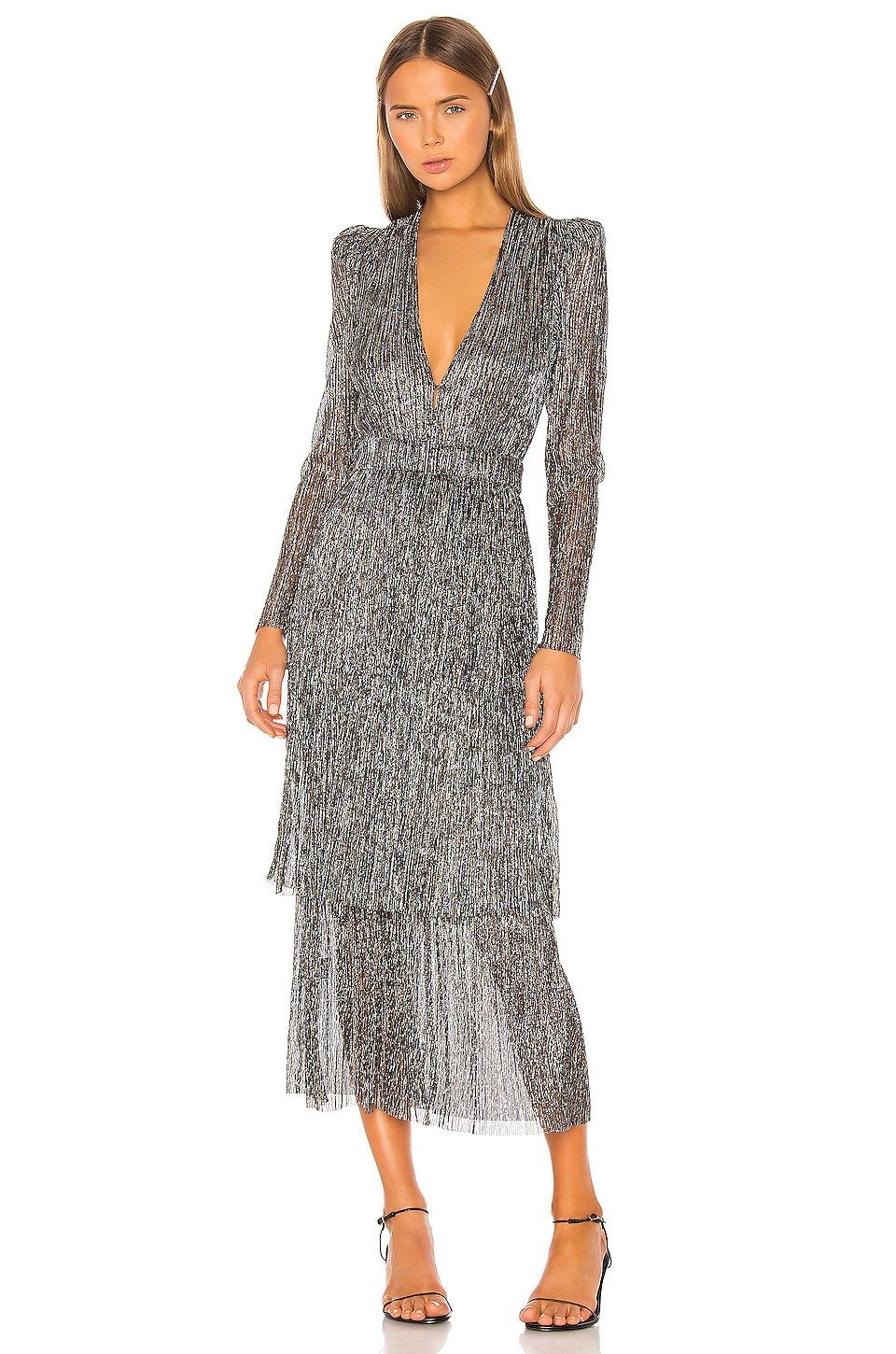 Sabina Musayev Carry Dress in Multicolor Silver