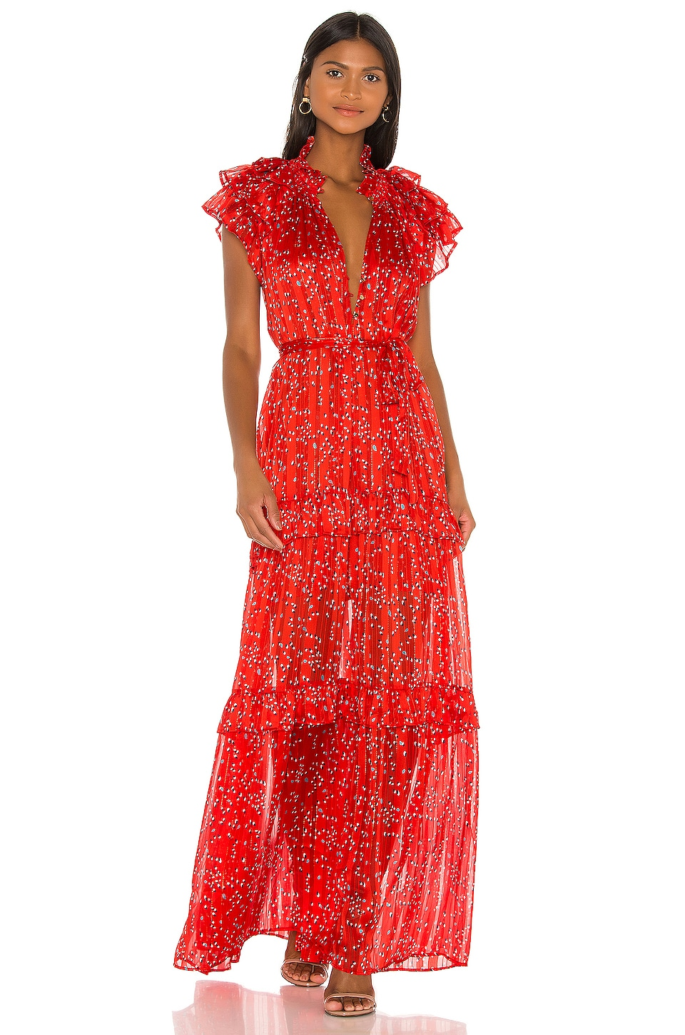 Sabina Musayev Gwen Dress in Red Dot Print