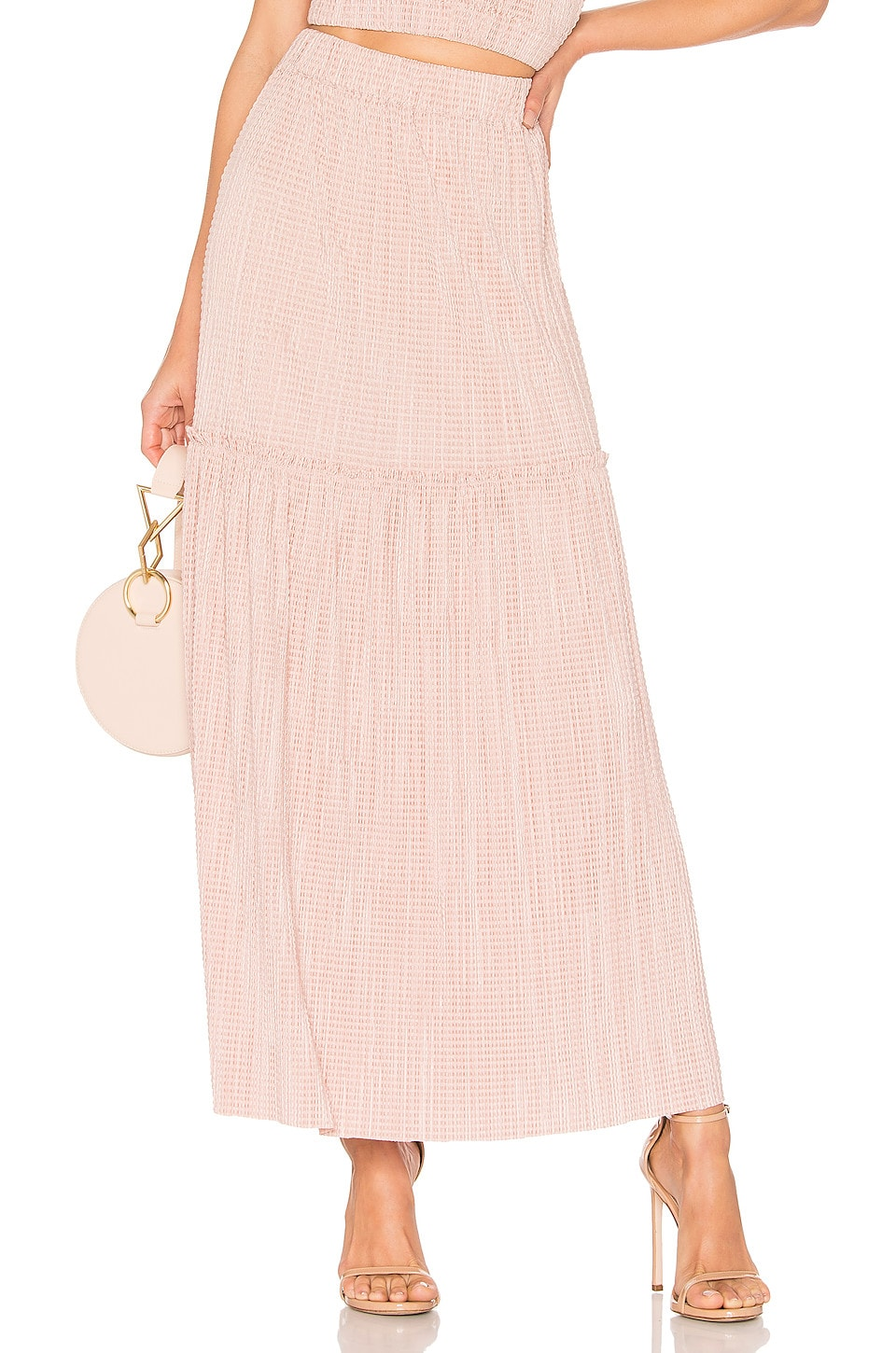 Sabina Musayev Amber Skirt in Blush