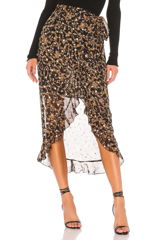 Sabina Musayev Sky Skirt in Printed Black